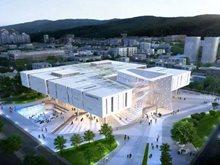 """釜山图书馆,唯格与韩国DA集团打造""""悬空""""国立项目"""