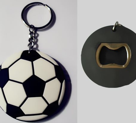 Football Shaped Key Chains Bottle Openers