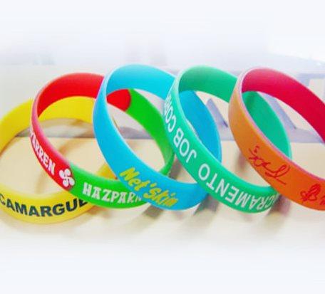 Screen Printing Ads LOGO Silicone Bracelet