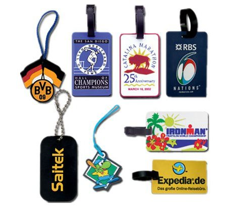 SoftPVC Ads gifts Luggage Tags