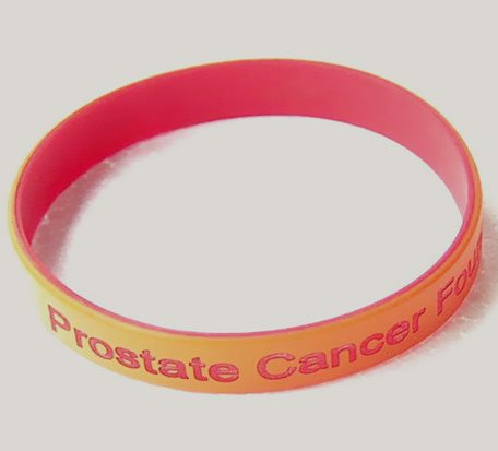 Double Layer Debossed Printing Silicone Bracelet
