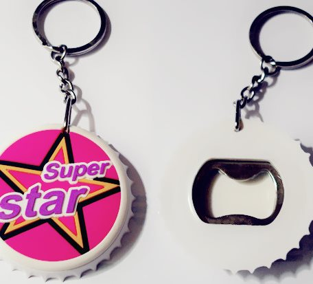 Beer Caps Shaped Key Chains Bottle Openers
