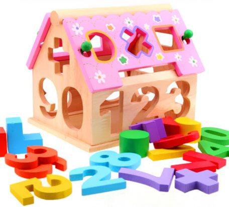 儿童数字拼图智慧屋玩具