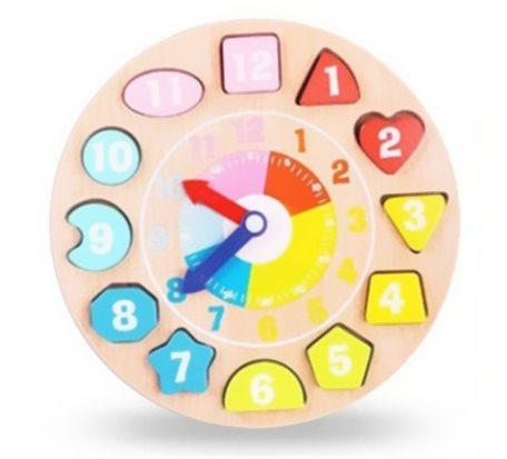 数字积木钟智力玩具