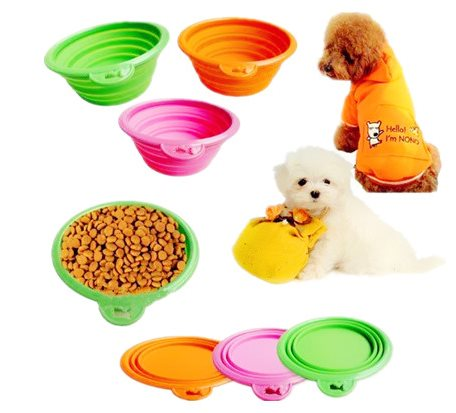 SPB002 Silicone Pet Collapsible Bowl