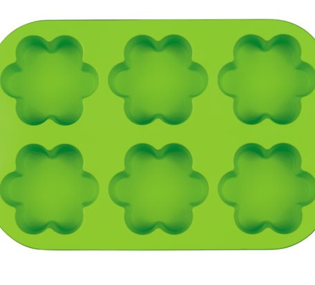 MINI 6 hole flower shaped Silicone Muffin Mold
