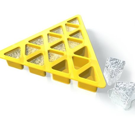 SIT003 Triangle Shape Silicone Ice Tray