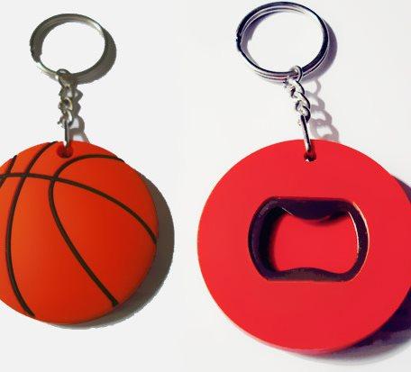 Basketball Shaped Key Chains Bottle Openers