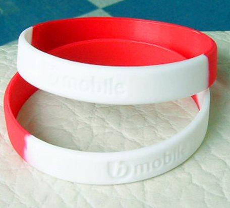 2Paragraph Colour Matching Debossed Silicone Bracelet
