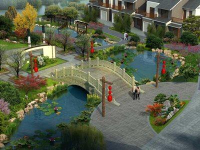 操军镇美丽乡村设计-轴线拱桥